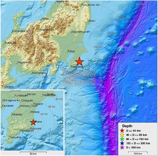日本发生5.1级地震