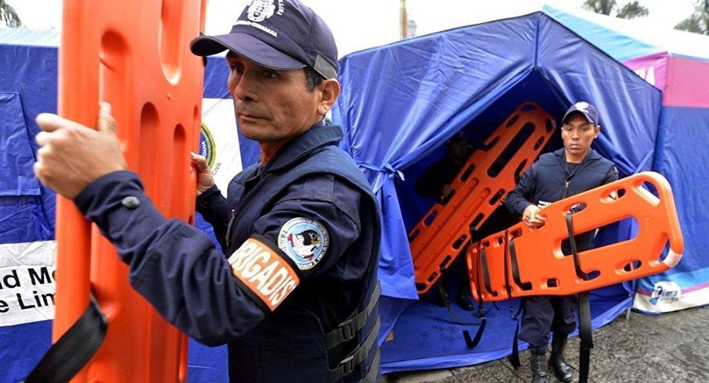 秘魯救援人員(資料圖片)
