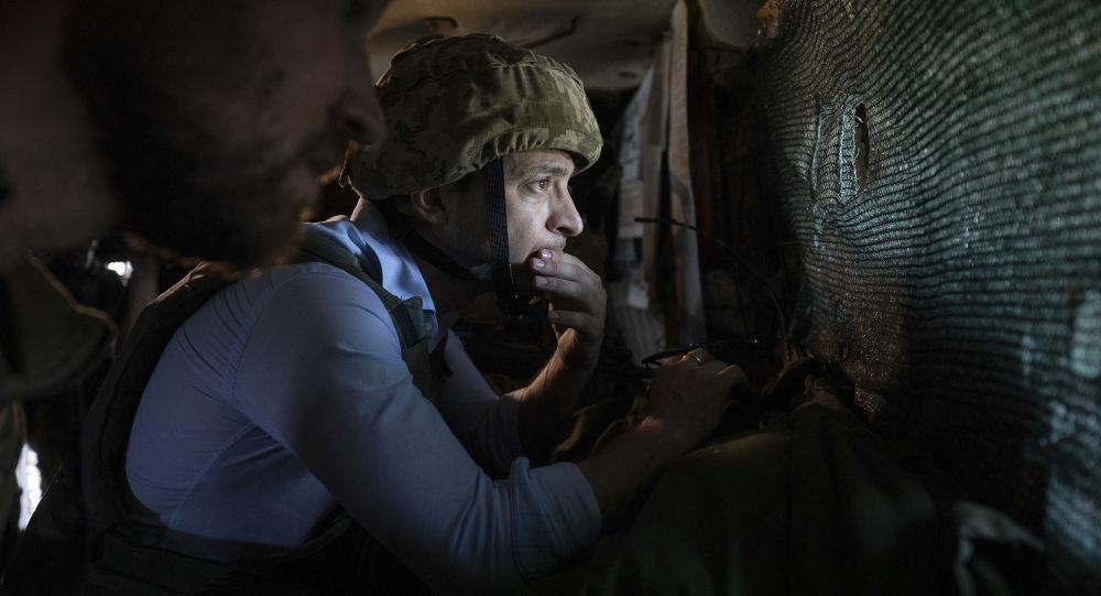 澤連斯基視察頓巴斯地區烏克蘭軍人日常