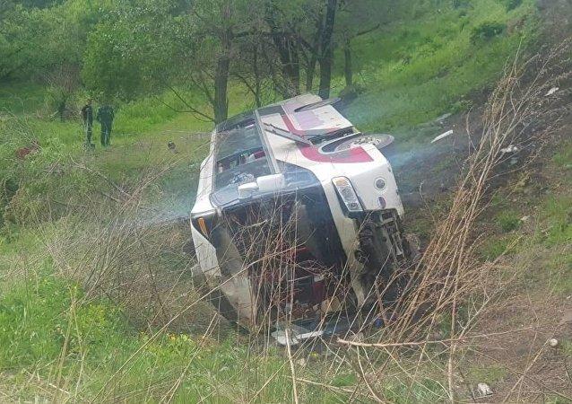在乌苏里斯克发生翻车事故