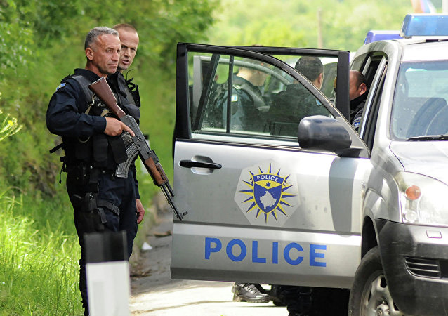 科索沃警察部隊在梅托希亞(2019年5月28日)