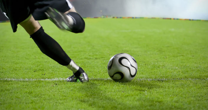 哈萨克斯坦男孩闯入球场与罗纳尔多自拍