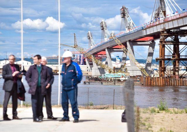 俄羅斯完成布拉格維申斯克-黑河大橋牽索系統安裝