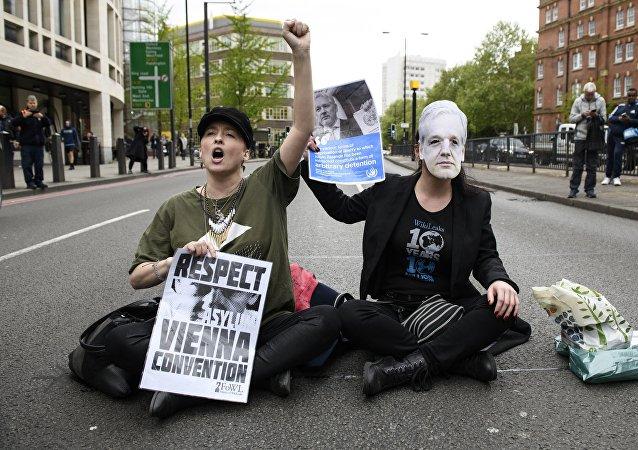 維基解密網站:今日支持阿桑奇的抗議活動將在一系列國家的大城市舉行