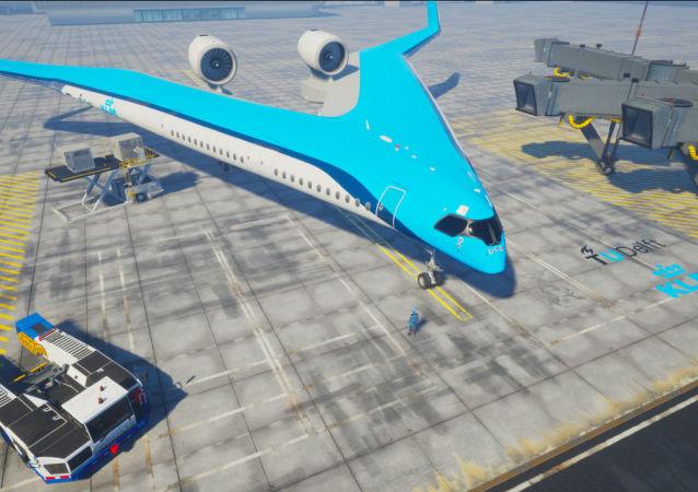 荷兰展示V形概念客机