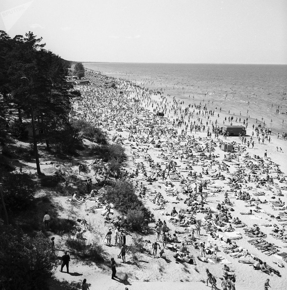 夏季,休假,沙滩