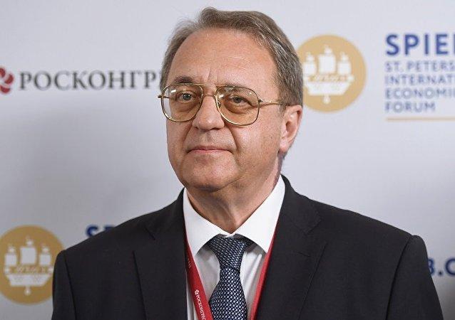 俄罗斯外交部副部长博格丹诺夫(资料图片)