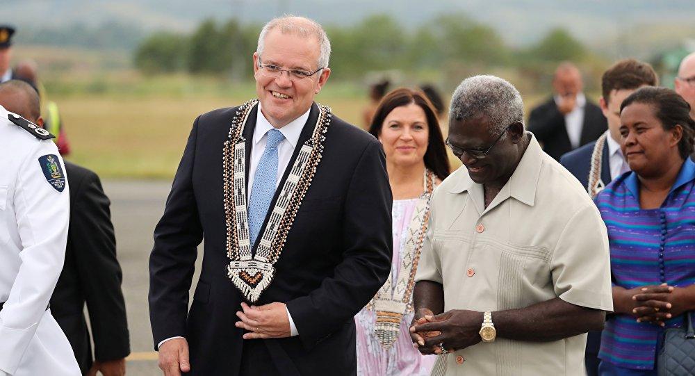 澳大利亚总理将所罗门群岛推向中国