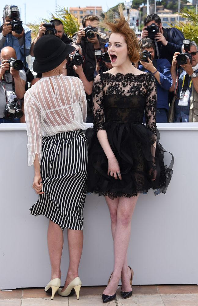美國女演員艾瑪·斯通2015年出席戛納電影節。