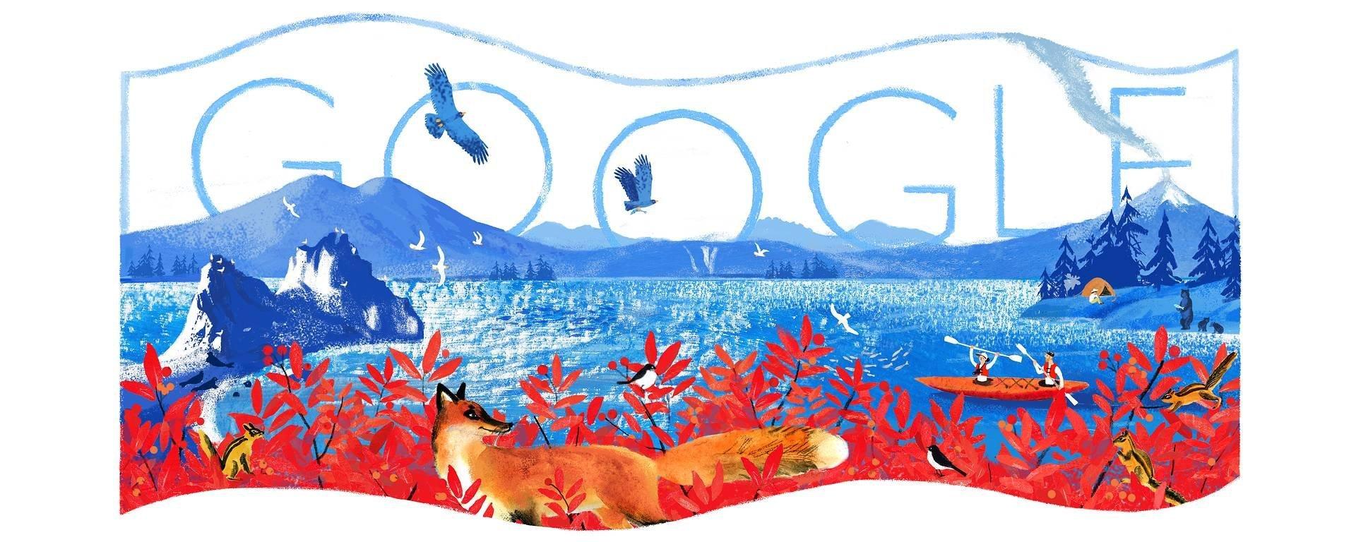 谷歌發佈俄羅斯日塗鴉