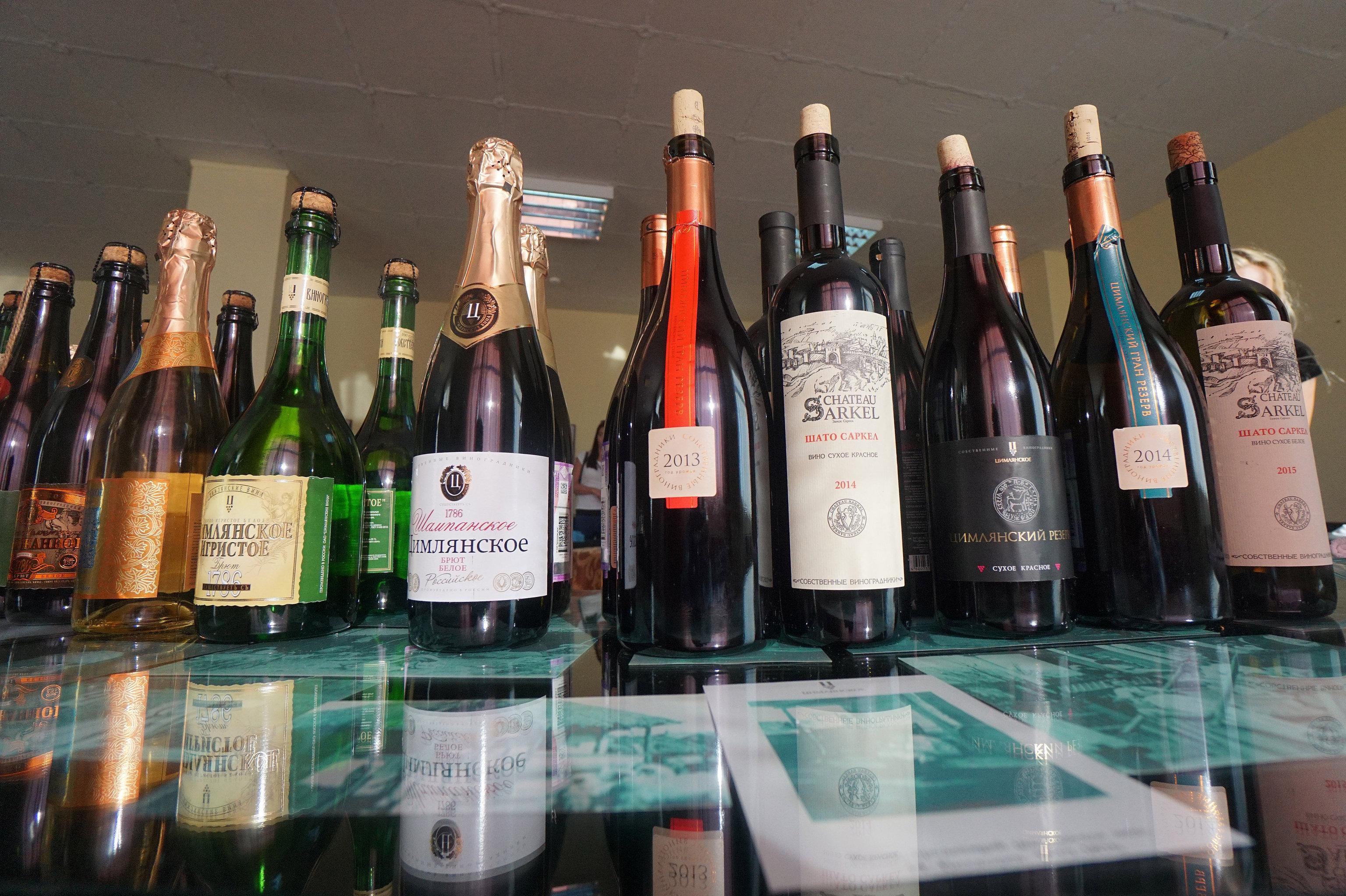 拉斯托夫州「齊姆良葡萄酒」公司品嘗大廳