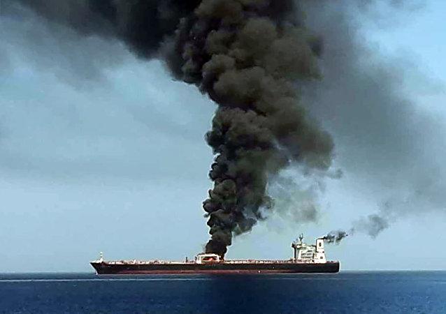 阿曼灣遇襲的第二艘船同樣起火 火勢已被撲滅
