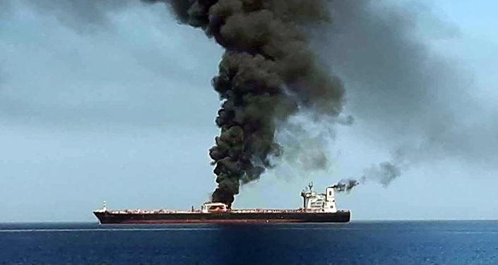 阿曼湾遇袭的第二艘船同样起火 火势已被扑灭