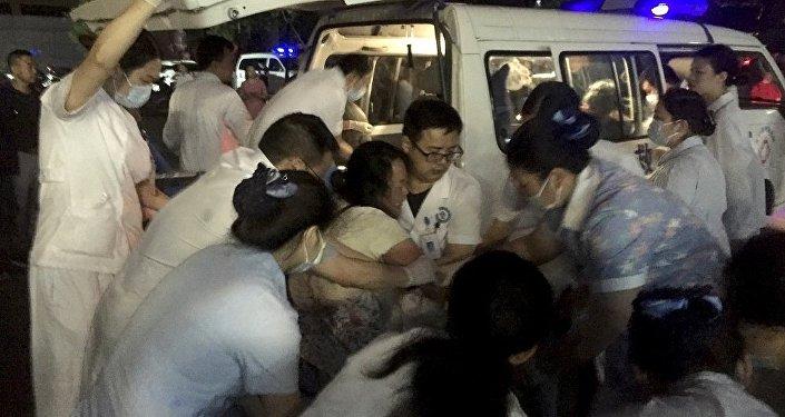 中国急救车 (资料图片)