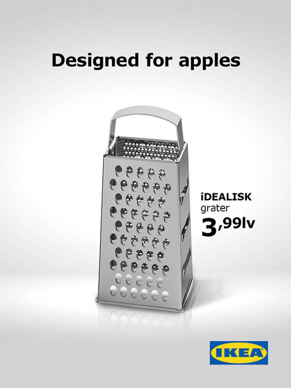 """宜家推出""""苹果刨丝器""""暗讽苹果公司"""
