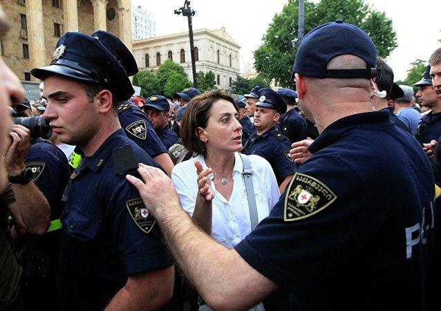 第比利斯市中心抗议