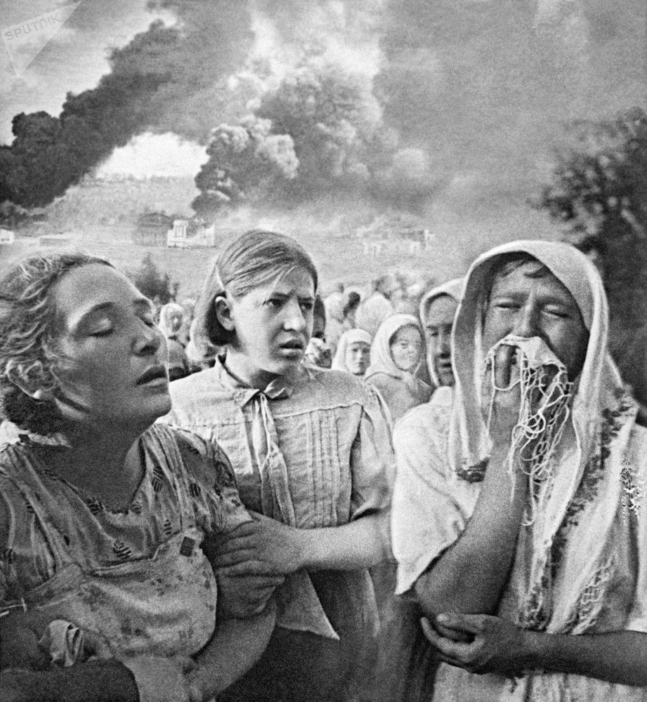 1941-1945年的偉大的衛國戰爭。1941年6月23日,基輔。