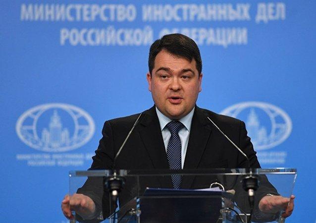 俄罗斯外交部新闻司副司长阿尔乔姆·科任(资料图片)