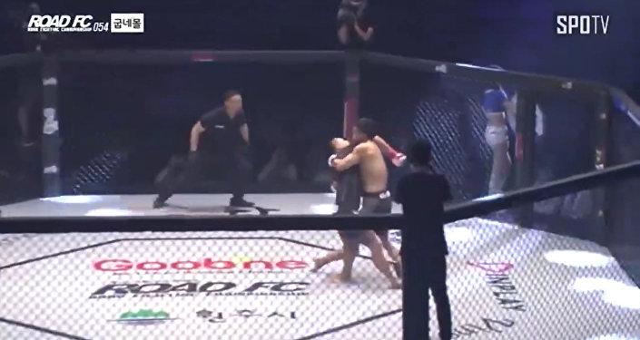 韓國MMA選手五秒絕殺對手
