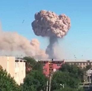 哈衛生部:哈薩克斯坦軍火庫爆炸後15人正接受重症監護