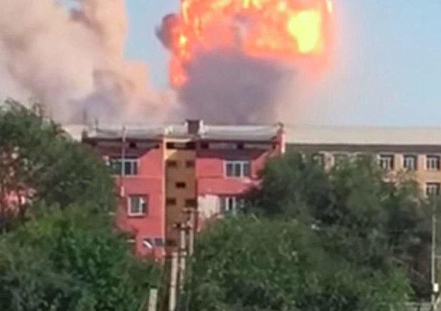 哈薩克斯坦南部軍火庫爆炸事故傷者人數超過70人