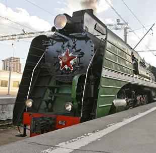 """""""俄罗斯帝国号""""VIP列车从莫斯科前往北京"""