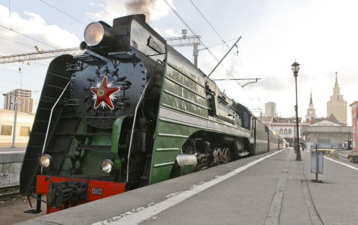 「俄羅斯帝國號」VIP列車從莫斯科前往北京
