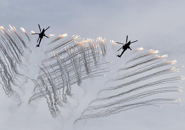战斗直升机MI-35和MI-28N出口型适于在最恶劣条件下打击恐怖分子