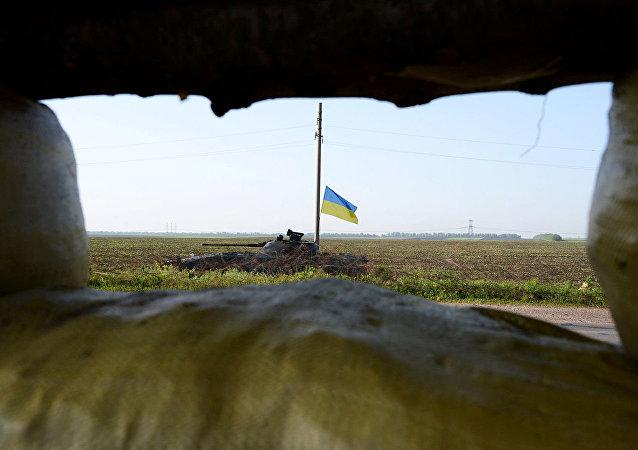 烏克蘭坦克在頓巴斯