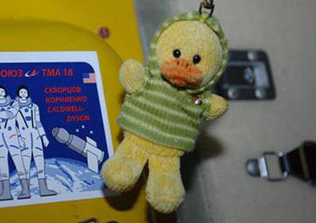 """机器人和小鸭玩具成为""""联盟MS-13""""号飞船机组人员的失重指示器"""