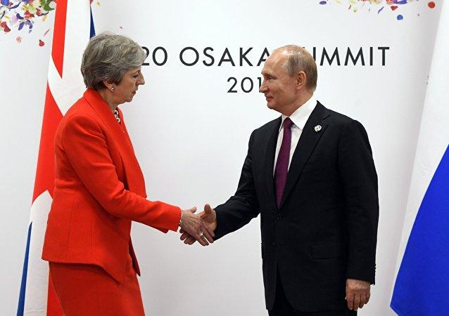 俄羅斯總統普京與英首相梅