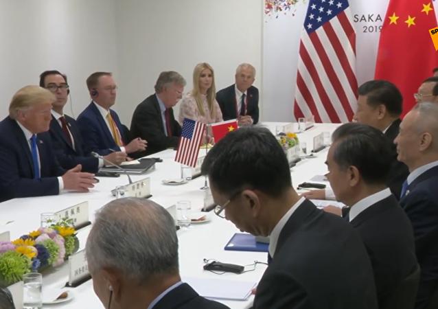 習近平同美國總統特朗普在大阪舉行會晤
