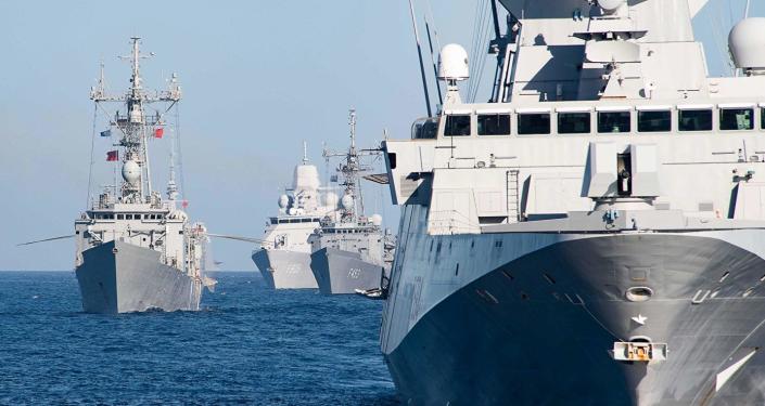 進入黑海的北約海軍艦隻