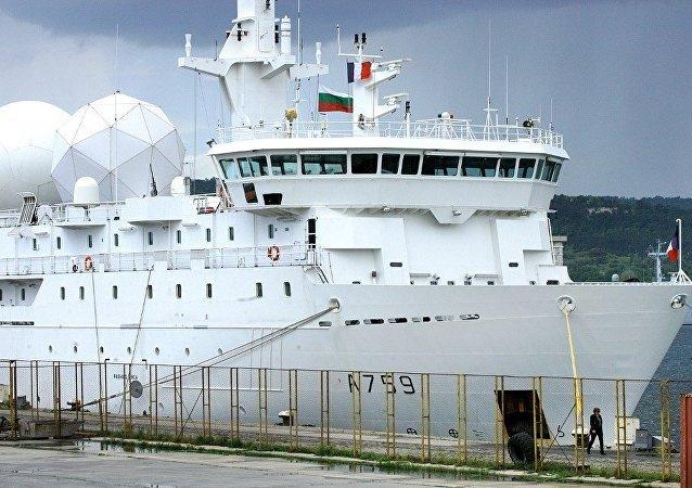 法國偵察船進入黑海水域