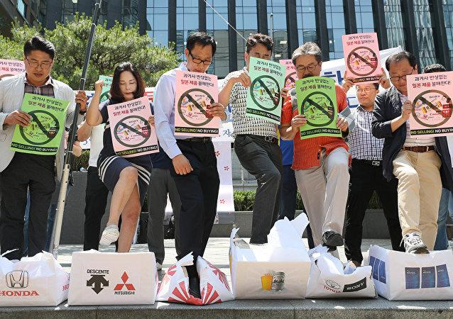 韓國和日本就誰曾給朝鮮非法供應商品而爭吵