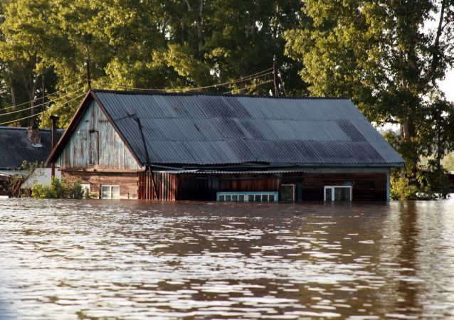 俄伊尔库茨克州洪灾