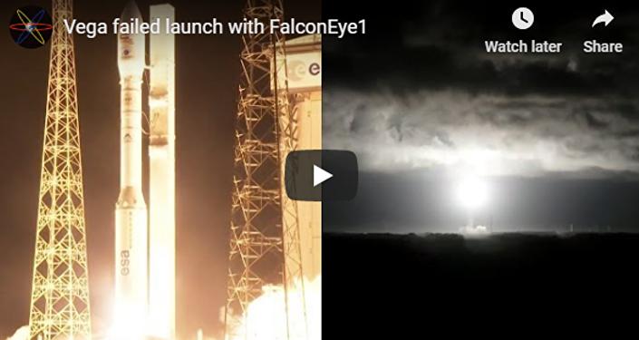「織女星」運載火箭發射失敗的視頻流出