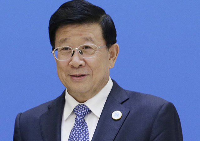 中国公安部长会见朝鲜保安省参事
