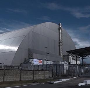 """切尔诺贝利核电站新""""石棺"""""""