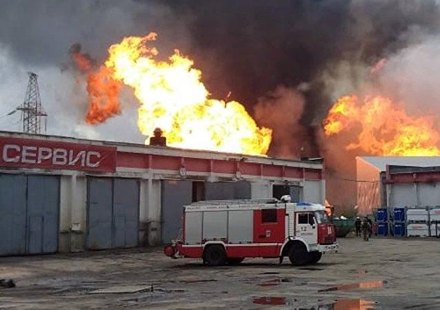 莫斯科州热电站火灾已造成11人受伤