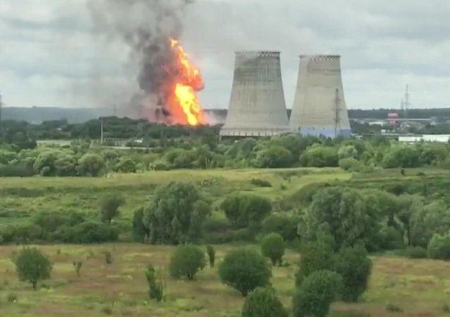 梅季希市热电站大火