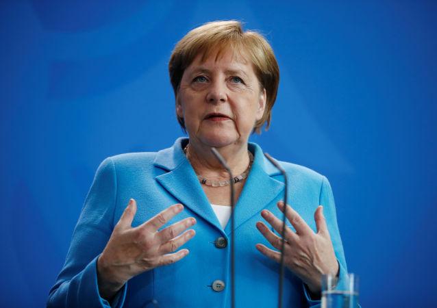 Канцлер Германии Ангела Меркель во время встречи с премьер-министром Финляндии Антти Ринне в Берлине