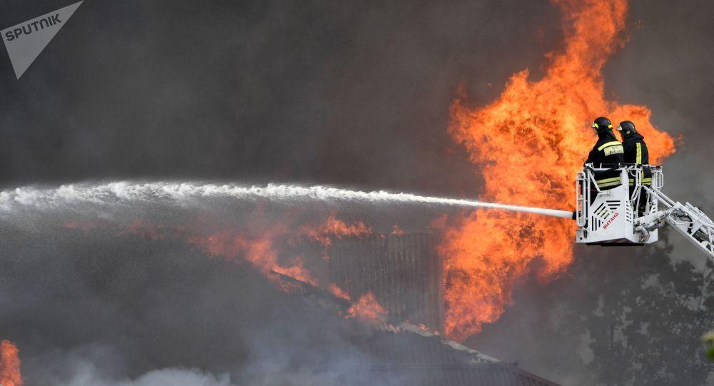 莫斯科州熱電站火災系天然氣管道破裂所致