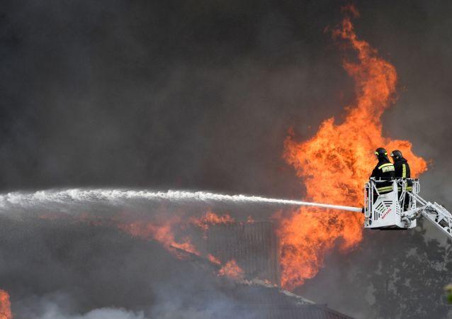 莫斯科州热电站火灾系天然气管道破裂所致