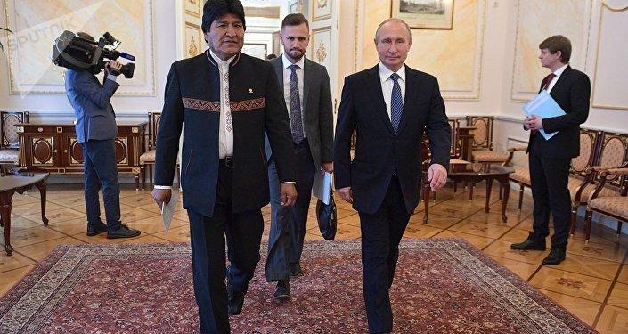 普京:不能容忍干涉委内瑞拉事务是俄罗斯和玻利维亚的共同立场