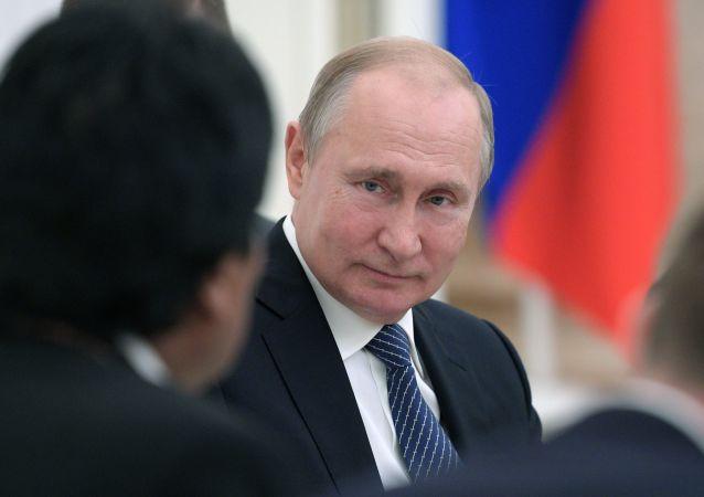 普京表示俄方愿促使巴以恢复和谈