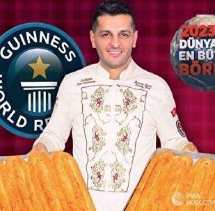 土耳其糖果点心记录保持者要为普京烤薄饼