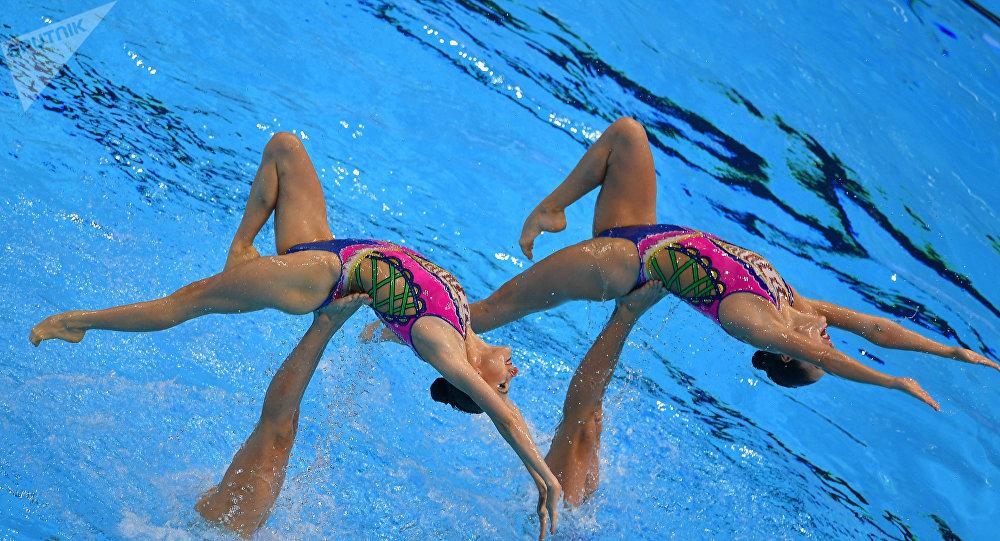 俄羅斯花樣游泳國家隊在世錦賽上奪金