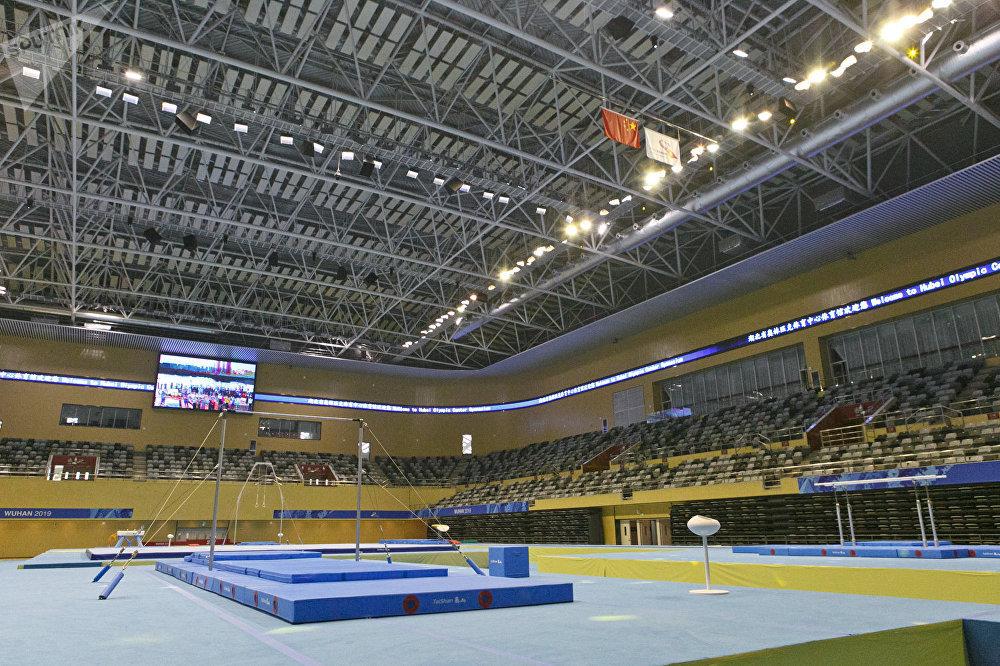 湖北省奥林匹克体育中心体育场,男子体操比赛场地