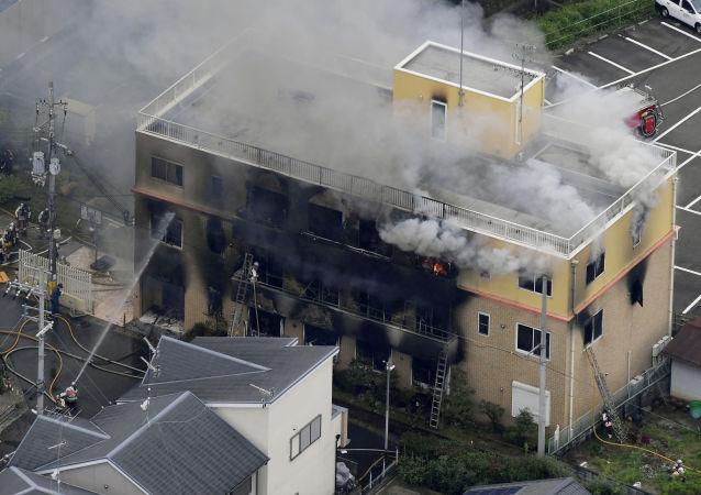 日本京都动画工作室火灾死亡人数增至25人